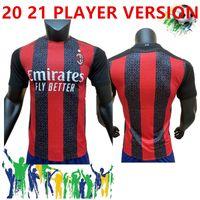 Wholesale football player jerseys for sale - Group buy 20 AC Milan PLAYER VERSION Soccer Jersey THEO REBIC Soccer Shirt AQUETA SUSO ROMAGNOLI CALHANOGLU CUTRONE KESSIE Football uniform