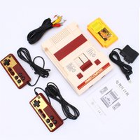 Wholesale ps4 card resale online - 8 bit TV Game Player Classic Red White Video Game Consoles Video Game Console Yellow Card Plug in Card Games RS