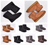 ingrosso pantofole ugg -2020 Designer women uggs boots ugg winter boots travel luggage slippers kids ugglis australia australian satin boot ankle booties fur leather outdoors shoes