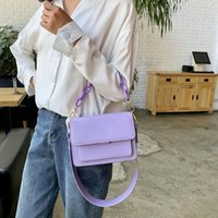 Wholesale new design cross bag resale online - Chain Design New Mini PU Leather Flap Bags For Women Summer Lady Shoulder Handbag Female Fashion Cross Body Bag