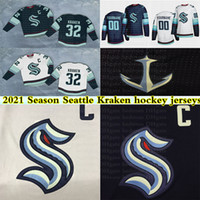 formayı numaralandırma toptan satış-2021 Season Seattle Kraken Jerseys 32th New Team 32 KRAKEN 21 KRAKEN 22 Jack Flaherty Custom Any Name Any Number Hockey Jersey