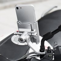 Wholesale high motorcycle handlebars for sale - Group buy Aluminum Alloy Cycling Stand High Quality Adjustable Bicycle Handlebar Phone Mount Motorcycle Rearview Mirror Phone Holder