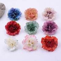 Wholesale flower carnations for sale - Group buy Artificial Flowers Christmas party Fashion Wedding Silk Artificial Carnation Flowers HEAD Home Ornament Decoration for monther gift GWA1528