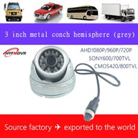 Wholesale monitor factory online – Source factory inch metal gray car surveillance camera wide angle hemisphere monitoring probe infrared night vision