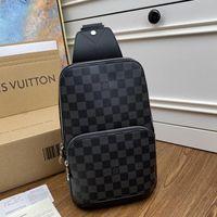 Wholesale plain sling bag resale online - Retro Design Avenue Sling Bag Mens Backpack Male Chest Pack Bolsa De Hombro Men Crossbody Bags High Quality Style Shoulder Bag Riefsaw