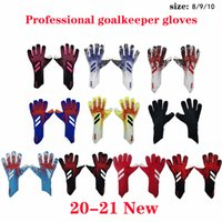 Wholesale black fingers gloves for sale - Group buy size brand professional Goalkeeper Gloves Latex Soccer Goalie Football Luvas Guantes