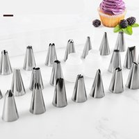 Wholesale cookies piping set resale online - Silicone Pastry Bag Nozzle Cake Decorating Tip Set Icing Piping Cream Cookie Baking Decor Tools Stainless steel nozzle set DIY
