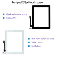 Touch screen quality for iPad 2 3 4 digitizer front replacement glass Assembly with home button