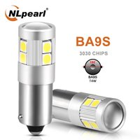 Wholesale t11 led resale online - NLpearl x Signal Lamp Ba9s Led Bulb T11 LED BA9S T4W SMD Chips For Car License Plate Light Auto tInterior Dome Lights V