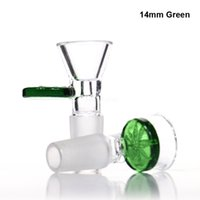 Wholesale leaf glass bowl for sale - Group buy 14mm bowl mm male bowl glass bowl Green Gray black blue clear glass bowls with leaves bowls for glass water bongs smoking bowls
