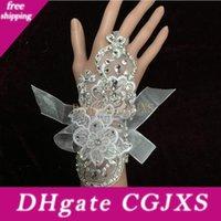 Wholesale white net gloves resale online - Elbow Length Wedding Accessory Wedding Gloves Tulle Net Satin Bridal Gloves White Beige Mitten Personalized Cheap Winter New Arrival