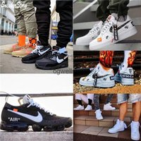 vapormax blanc cassé achat en gros de-2020 Nike air max airmax vapormax 270S 90 Off white OW offwhite  Shoes Casual Skateboard Triple Black White air force 1 airforce one AF1 Breathable 90 Trainers Sports sneakers