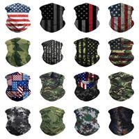 Wholesale multifunctional headwear resale online - fashion American Flag Scarves D Printing Magic Scarves Multifunctional camouflage Magic Headwear Turban riding mask BandanasT2I51363
