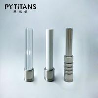 Factory directly sale Thread Titanium Ceramic Quartz Tips Nail For Honeybird Kits Micro Nectar Collector v4 kit Gr2 Titanium nail Bird