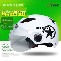 Wholesale car batteries direct for sale - Group buy Direct electric vehicle battery camp Harley riding electric car helmet unisex summer helmet battery car