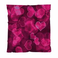 Wholesale hot pink blanket for sale - Group buy Love Warm Flannel Fleece Towel Blankets Prophecy Love Joy Hot Pink Cute Sweet Heart Shapes Soft Comfortable Multifunctional Blanket