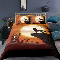 Wholesale wolf duvet covers for sale - Group buy 3 Pieces Pumpkin wolf Duvet Cover with Pillow Cases D Bedding Microfiber Quilt Cover with Zipper Twin Full Queen King