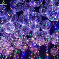 Wholesale purple led lights for decoration resale online - BOBO Ball led string balloon light Transparent LED Balloon Light for Christmas Halloween Wedding Party home Decoration