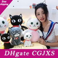Wholesale black sheep gifts for sale - Group buy 20 cm Lovely Plush Cat Toys Soft Dolls Stuffed Cat Animals Plush Toys Cartoon Black Cat Dolls For Kids Christmas Gift