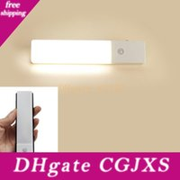 Wholesale battery wall sconce light for sale - Group buy Bright Ultra Thin Closet Light Modes Motion Sensor Led Night Lights Rechargeable Built In Lithium Battery Powered Wall Sconce Light