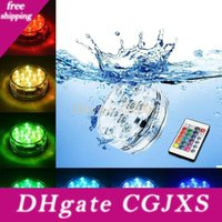 Wholesale battery operated submersible led lights resale online - Underwater Submersible Vase Led Remote Controll Rgb Candle Light Battery Operated Night Lamp Outdoor Party Pool Decoration