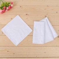Wholesale mens handkerchiefs cotton resale online - Cotton White Hankerchiefs DIY High Density Pure White Cotton Handkerchief Towel Mens Suit Pure Color Pocket Square WY798Q