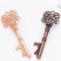 Wholesale decorative key gifts resale online - Vintage Keychain Opener Ancient Key Beer Bottle Opener Wedding Party Bar Kitchen Tool Unisex Decorative Keychain Gift Metal Opener DHB1988