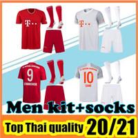 Wholesale football jersey set resale online - Bayern Munich SANE soccer jersey LEWANDOWSKI HERNANDEZ MULLER football shirt Men Kids set uniform