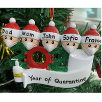 Wholesale fairy angel pendant for sale - Group buy Christmas Decoration Birthdays Party Gift Product Personalized Family Of Ornament Pendant With Face Masks Hand Sanitized Free DHL