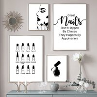Wholesale artists paint animals for sale - Group buy Nail Salon Wall Decoration Beauty Salon Wall Art Canvas Painting Nail Polish Quote Posters And Prints Nail Tech Artist Gift