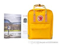 Wholesale kids plain yellow backpack resale online - Fjallraven Unisex Classic Sweden Fashion Fjallraven Kids Houth Color Bags Backpacks Pink Brown Blue Yellow Red Bags Outlet Hot Sale