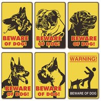 Wholesale pets painting resale online - Caution Dogs Beware dogs Metal Painting Martin Metal Signs Tin Painting cm Home Pet shop Wall Decor Metal Painting