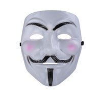 Wholesale v for vendetta cosplay resale online - One Anonymous Cosplay Guy Parties Fawkes Teens Fits Adults Vendetta Fancy Size Most V For For Costume Carnivals To Mask Cool Mask VfCjN