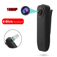 Wholesale video cameras for sale - Group buy New Wearable HD P Min Camera Video Recorder with Night Vision Motion Detection Small Security Cam for Home Outside Camcorder
