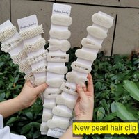 Wholesale send code resale online - Internet celebrity Korean Pearl piece set of hairpin decoration Pearl Headdress headdress scan code to send small gifts ladies bangs hair
