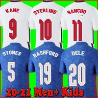 Wholesale 2020 england soccer jerseys kane STERLING SANCHO RASHFORD DELE inglaterra camisetas de fútbol men kids football shirts