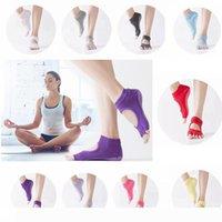 New Women 5-Toe Yoga Gym Non Slip Massage Toe Socks Full Grip JJ