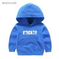 Wholesale kids hockey hoodies for sale - Group buy 2020 New Kids Sweatshirts Children Ice Hockey Player Birthday Gift Tops Autumn Casual Long Sleeve Hoodies Baby Boy Girls Tops