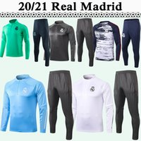 football maillot d'entraînement achat en gros de-20 21 DANGER Formation Costume Football Maillot Real Madrid SERGIIO RAMOS kroos Mens Survêtement Kit de football Chemises BENZEMA MARCELO CITP Pantalons
