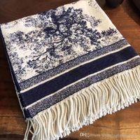 2021 High Qualtiy print Animal Cashmere Brand scarf for Women Designer Luxury Long Scarves with silver thread Shawls Wrap