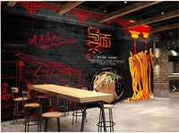 Wholesale chinese noodles for sale - Group buy 3d wallpaper custom photo mural Chinese Food Noodle House Udon tv background Home decor d wall murals wallpaper for living room