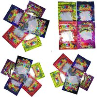 Wholesale clear plastic flower bags resale online - Hottest Dank Gummies Clear Mylar Bags MG Reflective Plastic Zip Lock Bags Zipper Edibles Retail Dank Gummy for Dry Herb Flower Packaging