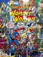 Wholesale arts oil paintings woman for sale - Group buy Mr Brainwash Graffiti art Wonder Woman Home Decor Handpainted HD Print Oil Painting On Canvas Wall Art Canvas Pictures