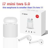 Wholesale earphone sony resale online - New i7 Mini Tws Bluetooth Earphone Wireless Earbuds with charging Box Air Headset Pods Headphones for smartphone i9 i12 i20 i10 tws