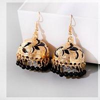 Wholesale best thailand resale online - Bohemian Ethnic Style Women s pendant Alloy Bead Tassel Earrings Thailand Fashion Jewelry Best Friend Gift Gypsy Jewelry