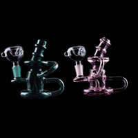 Wholesale martian glass bubbler for sale - Group buy quot Inch Mini Martian Recycler Glass Small Smoking Pipe Colored Glass Pipe Beaker Bong Bubbler Glass Water Pipes DHL