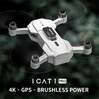 Wholesale ICAT1 Pro gps Drone WIFI FPV K HD Camera Foldable Selfie RC Quadcopter Video RC Helicopters Remote control electric toys