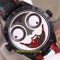 Wholesale vampire leather resale online - TWF V3S Upgrade version Konstantin Chaykin True Moon Phase Joker Vampire Dial NH35A Automatic Mens Watch Black CNC Steel Case Sport Watches