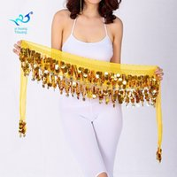 Wholesale white square dancing resale online - zfCtp Belly waist chain waist sequins Gong sequins copper coin belly towel square dance Indian dance practice performance arm towel