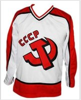Wholesale jersey hockey cccp for sale - Group buy Custom Men Youth women Vintage Custom Name Russia CCCP Retro New White Makarov Hockey Jersey Size S XL or custom any name or number